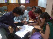 Putting together prospecting process: Sales training with Bajaj Allianz in Pune