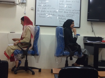 Role plays on phone banking by employees of J&K Bank, Srinagar