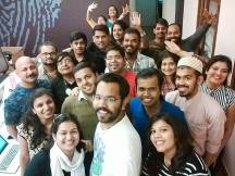 With the inspirational social media team for SMW, Bangalore in February 2015