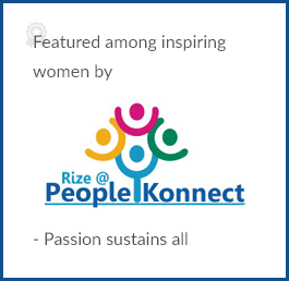 Featured among inspiring women by People Konnect – Passion sustains all