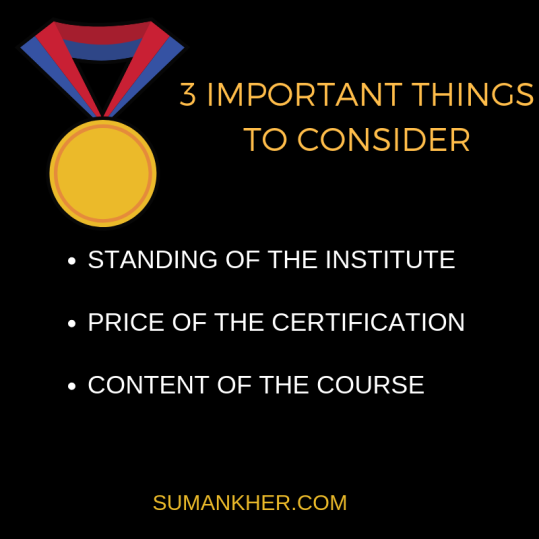 3 IMPORTANT THINGS TO CONSIDER