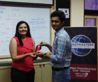 First prepared speech at Toastmasters
